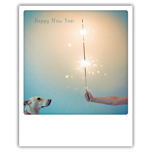 Postkarte Happy New Year - Wunderkerze