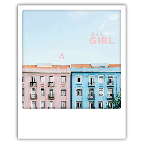 Postkarte It's a girl