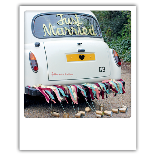 Postkarte Just married