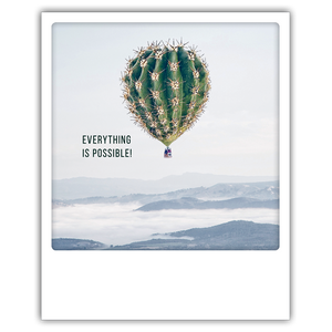 Postkarte Everything is possible
