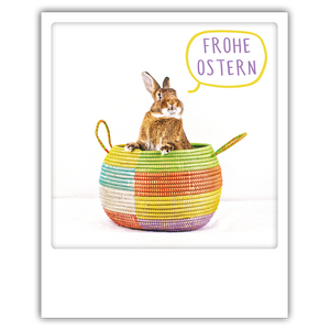 Postkarte Frohe Ostern Hase