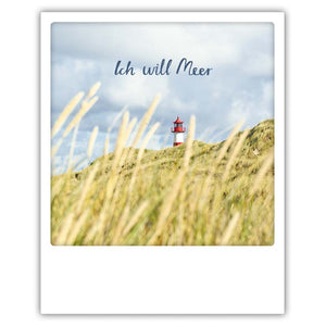Ich will Meer - Postkarte