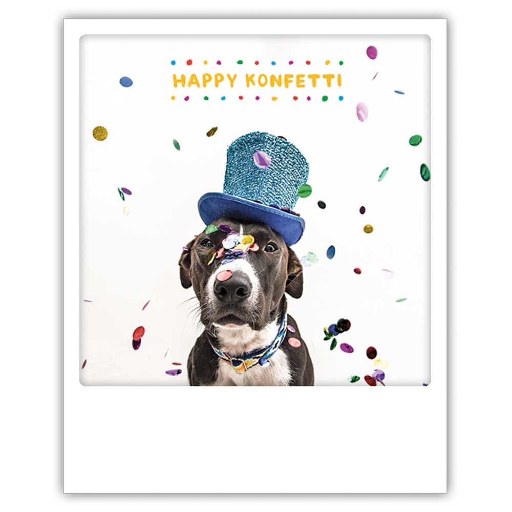 Happy Konfetti - Postkarte von Pickmotion