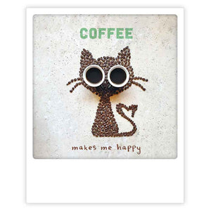 Pickmotion Postkarte - happy coffee