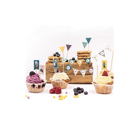 Cats on appletrees - Kuchen- und Dekosticker Set 3