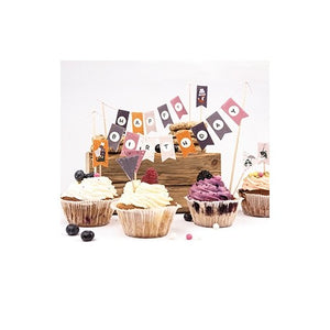 Cats on appletrees - Kuchen- und Dekosticker Set 4