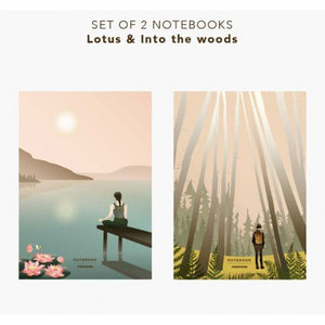 Notizbuch 2er Set LOTUS und IN THE WOODS