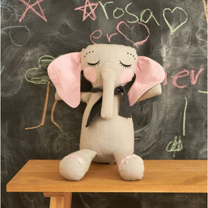 ROOMMATE - Little Elephant Stofftier in Grau-Rosa