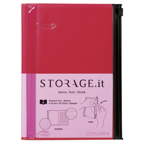 STORAGE.IT Notebook rot, medium