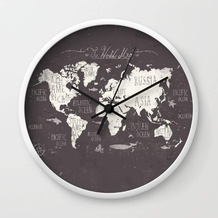 The World Map Wall clock