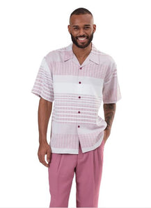 Montique 2pc shirt & pant set 9321 Blush