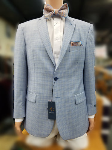 ZeGarie 100% Wool Sport Coat (Lt. Blue)