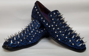 Men's Spiked Fashion Loafers (Royal Blue) DKGLO6788RYL
