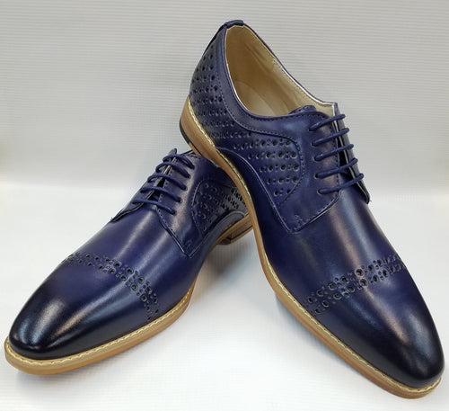 Cap Toe Dress Shoes (Blue) DKAC6812