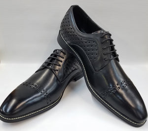 Cap Toe Dress Shoes (Black) DKAC6812