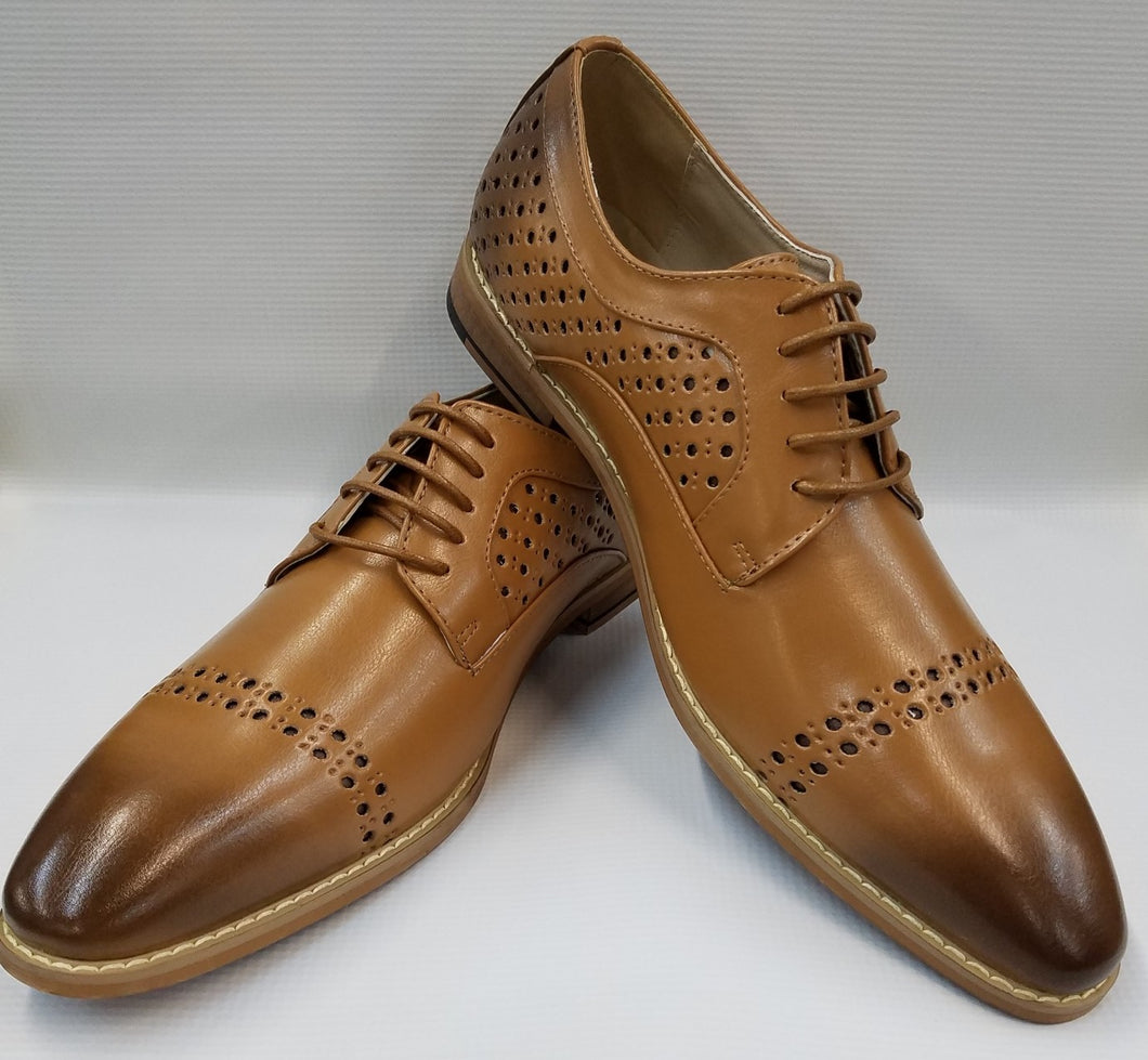 Cap Toe Dress Shoes (Latte) DKAC6812