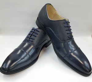 Cap Toe Dress Shoes (Navy) DKAC6721