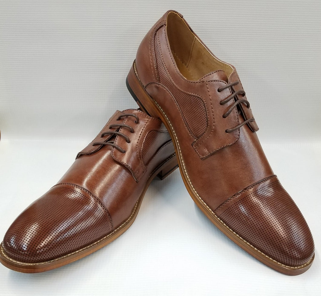 Cap Toe Dress Shoe (Lt. Brown) DKM2558