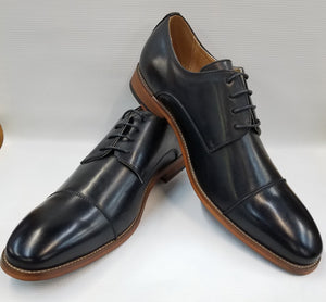 Cap Toe Dress Shoe (Black) DKAMBRAM