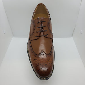 Classic Wing Tip Dress Shoe (Tan) DKISEO