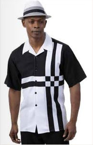 Montique 2pc shirt & pant set (Black) DKMNTQ2078B