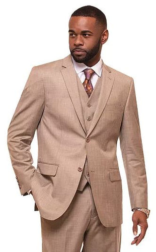 Vitali Modern Fit 3pc Suit (Oatmeal) DKM3090