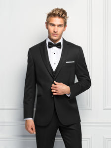 Ultra Slim Fit Black Formal Suit (Sterling)