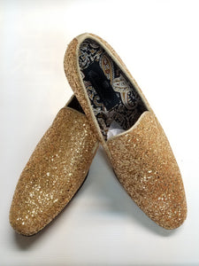 Crystal Finish Fashion Formal Loafers (Gold) DKGLO6683GLD
