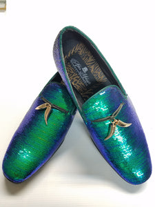 Sequin Formal Fashion Loafer (Peacock Pearl) DKGLO6759PP