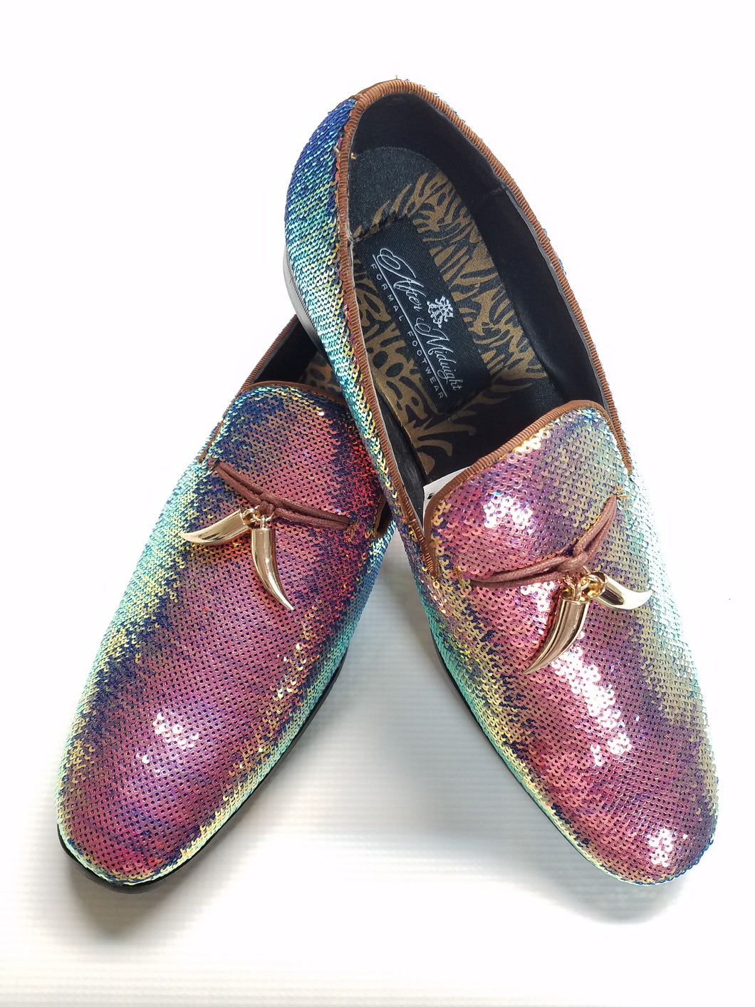 Sequin Formal Fashion Loafer (Rose Pearl) DKGLO6759RP