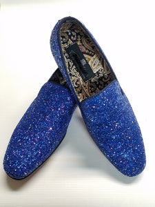 Crystal Finish Fashion Formal Loafers (Royal) DKGLO6683RYL