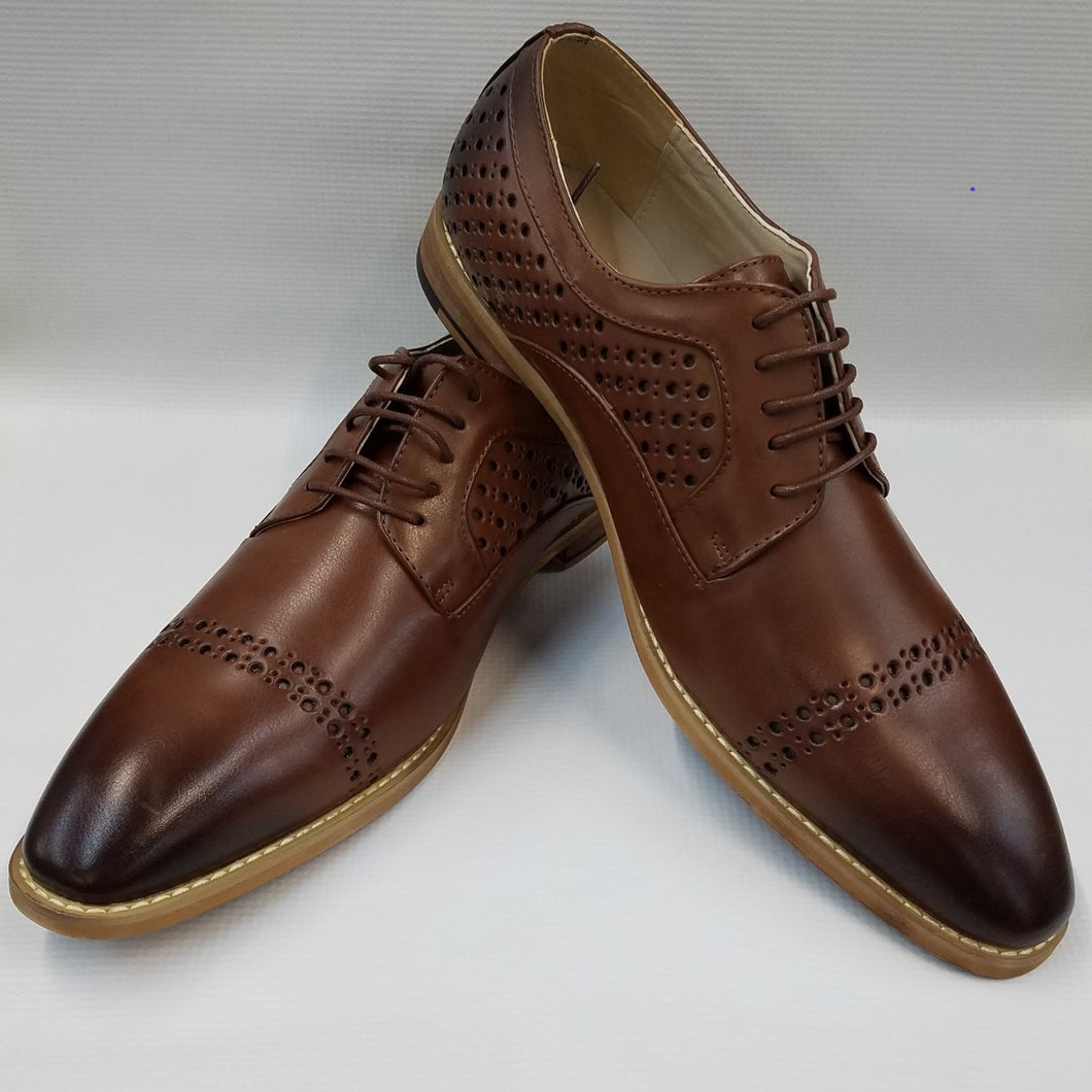 Cap Toe Dress Shoes (Cognac) DKAC6812