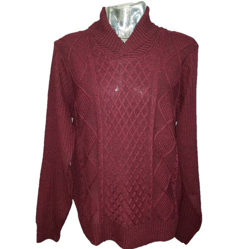 Akademiks Cowl Neck Sweater (Burgundy) DKAK1822