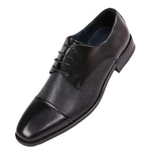 Classic Cap Toe Dress Shoe (Black) DKBACH