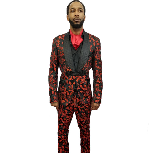 Biarelli Fashion Formal Suit (Red) DKBRS2913
