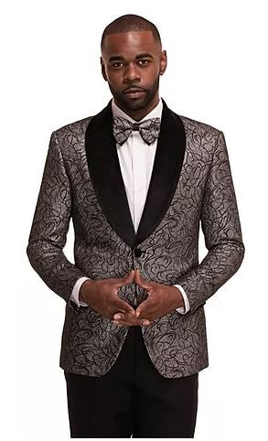 Textured Fashion Sport Coat (Silver) DKC1942