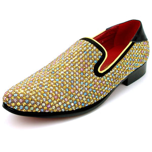 Fashion Formal Shoe with Multi Color Stones DKFI7499