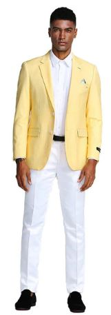 Tazio Slim Fit Sport Coat (Lemon)