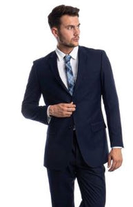 Modern Fit Solid Suit (Ink Blue) DKMF202