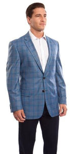 ZeGarie 100% Wool Sport Coats (Blue)