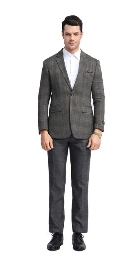 Tazio Slim Stretch Fit Sport Coat (Brown) DKMJ305S