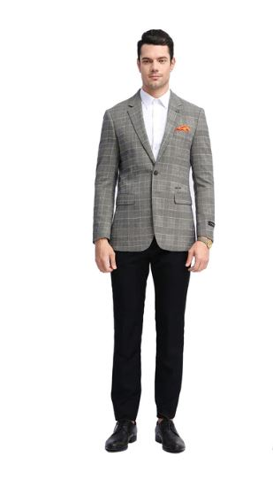 Tazio Slim Stretch Fit Sport Coat (Tan) DKMJ305S