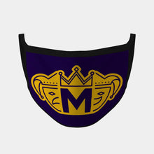 Load image into Gallery viewer, Mobile Mardi Gras Logo Mask (Purple/Gold) DKLSMMG