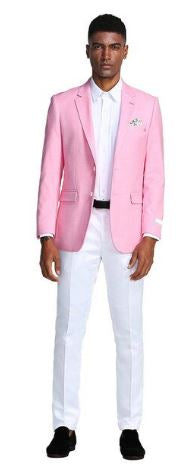 Tazio Slim Fit Sport Coat (Pink)
