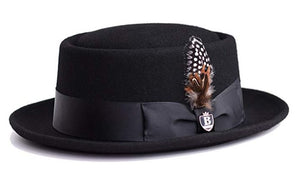 "Australian Wool Hats ""The Pork Pie"" (Black) DKPP-100"