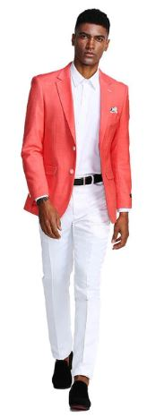 Tazio Slim Fit Sport Coat (Salmon)