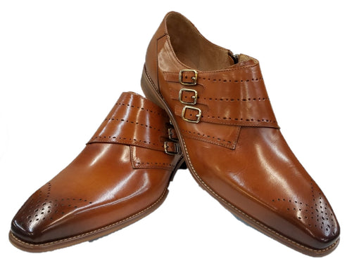 Steven Land Monk Strap Shoes (Cognac) DKSL0063
