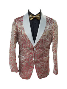 Slim Fit Fashion Blazer (Red/Gold) DKSLM041