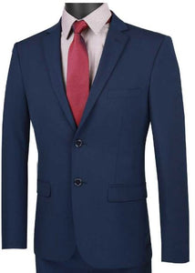 Ultra Slim Stretch Fit Suit (Navy) dkusdx-1