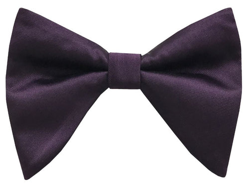 Solid Satin Long Bow Tie (Purple) DKLBT100